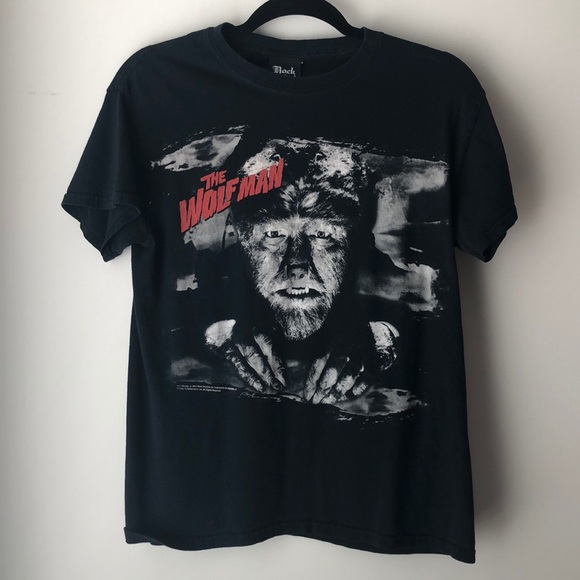 Rock Rebel Tops - The Wolfman Tee Shirt Black, Horror Punk Goth Tee